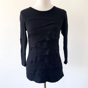 Vince Camuto Layered Black Sweater